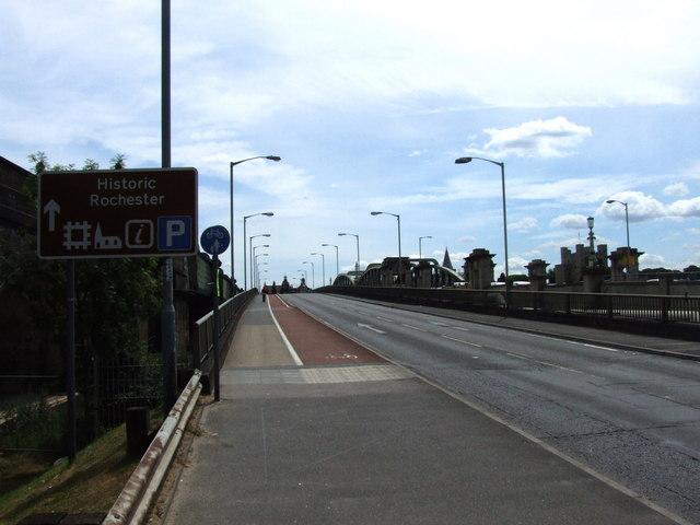 A2 at Rochester Bridge