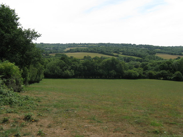 View south to Denture Shaw a small wood by Huggett's Furnace