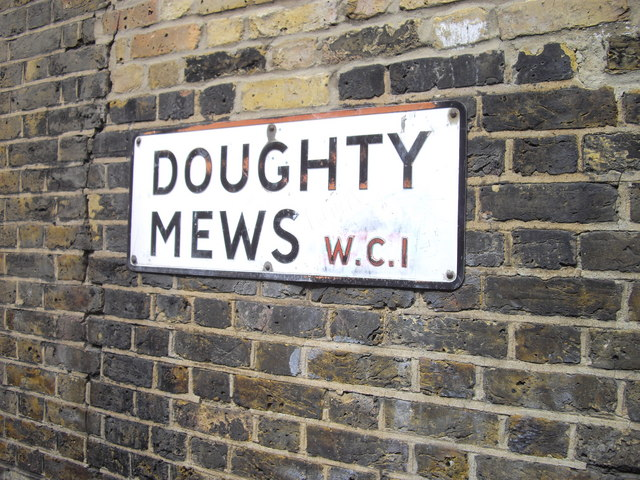 Street sign Doughty Mews