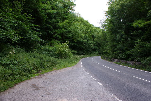 The A5018 by Hopton Wood