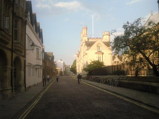 Merton Street, Oxford on a summer's evening