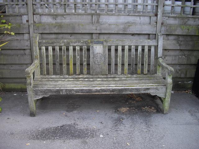 Bench outside St Mark's Hospital Northwick Park