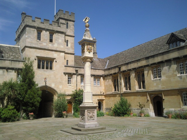 The sundial in Front Quad, Corpus Christi College, Oxford