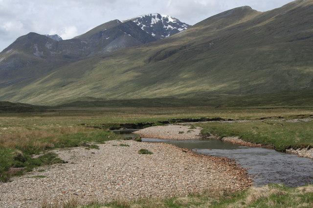 Gravel banks of the Amhainn Rath above Meanach