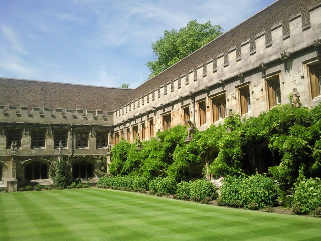 The 15th century Cloister at Magdalen College, Oxford