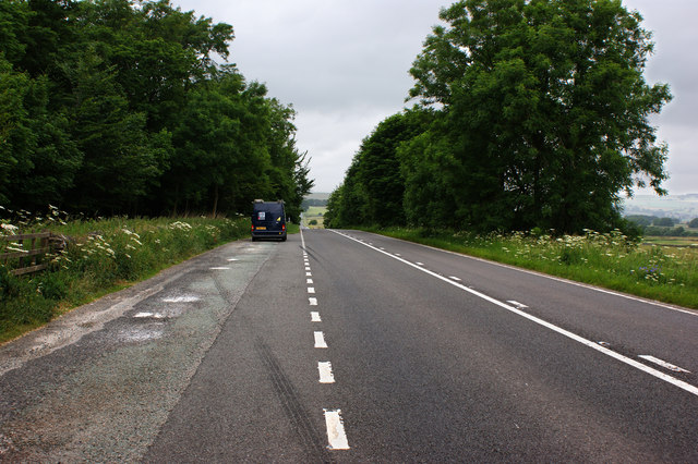 The A515 near the Pennine Bridleway following the line of a Roman Road