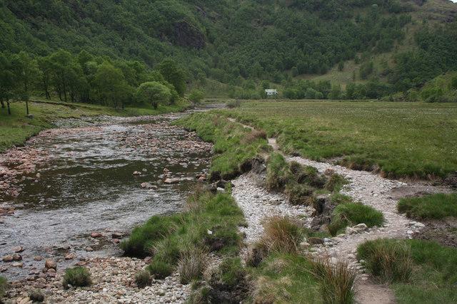 Steall Meadow footpath