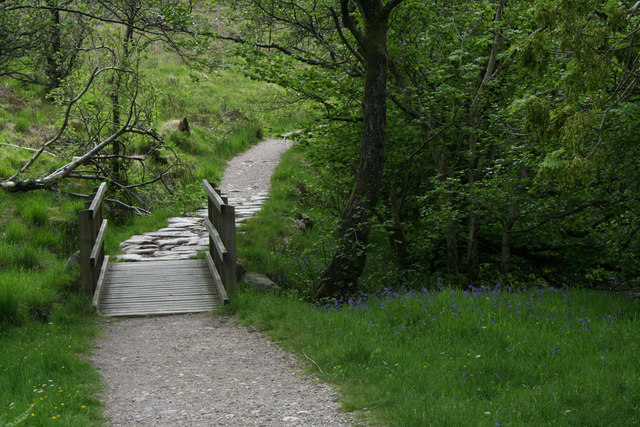 Bridge on trail in Glen Nevis