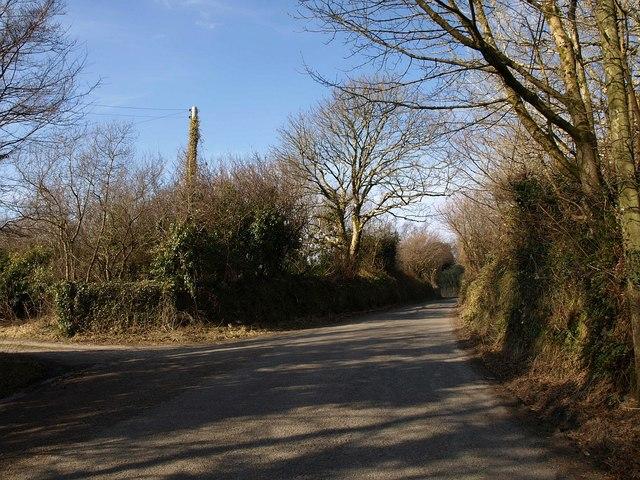 Road past Knightor