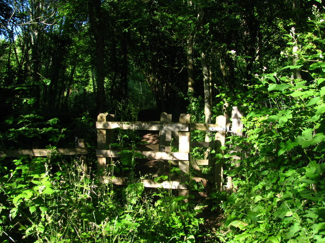 Kissing Gate in the Trees