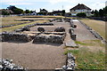 TG5112 : Roman Building and Cobbled Street by Ashley Dace
