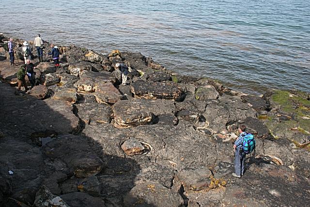 Admiring the Carboniferous Potholes
