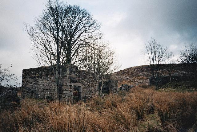 Dob Dale Farm Ruins - Gisburn Forest - Bowland