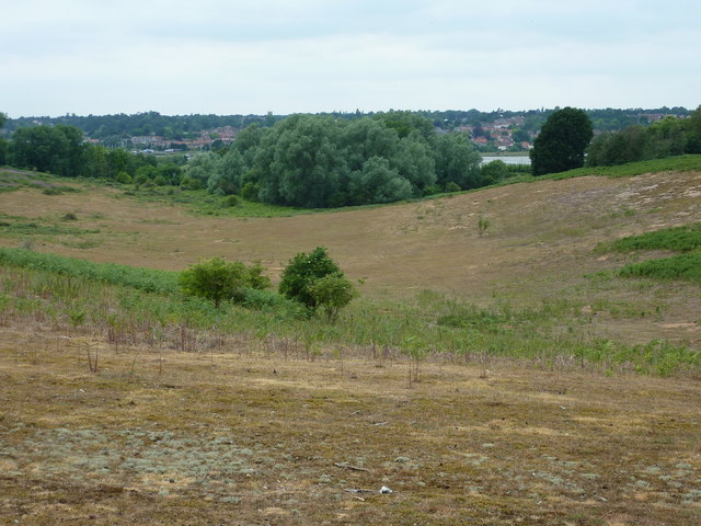 A glacial valley on the Sutton Hoo estate
