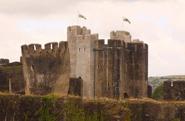 The keep of Caerphilly Castle
