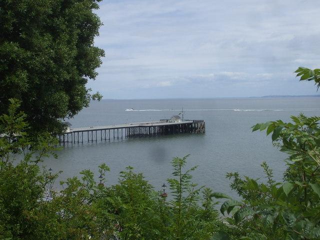 Penarth pier, seen from Windsor Gardens