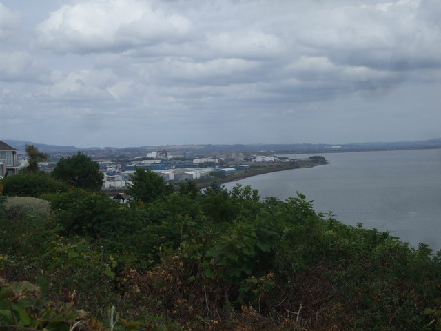 View from viewing area, Penarth Head
