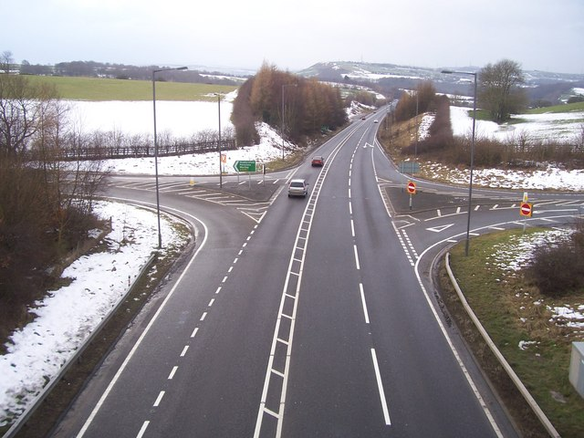 The A616 near Wortley