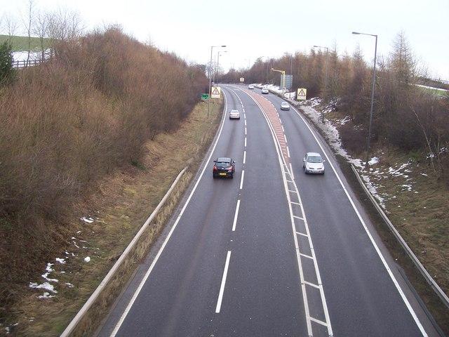 The A616 near Wortley