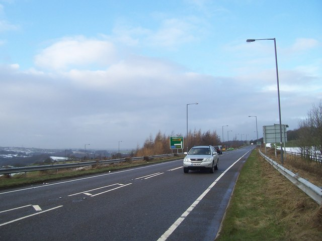 The A629 near the junction with the A616