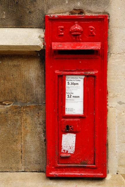 Postbox in Free School Lane, Cambridge