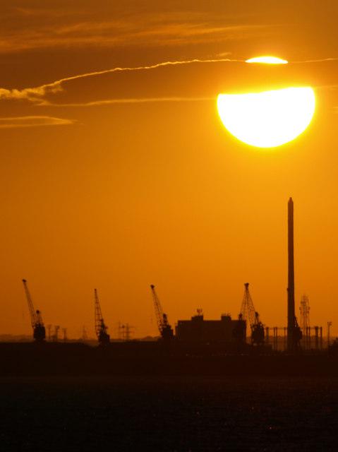 Sunset over 'Reckitt's Chimney'