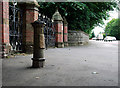 J3875 : Old boundary post, Belfast by Rossographer