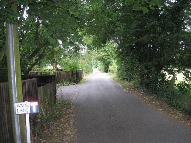 Wade Lane towards Langstone Harbour