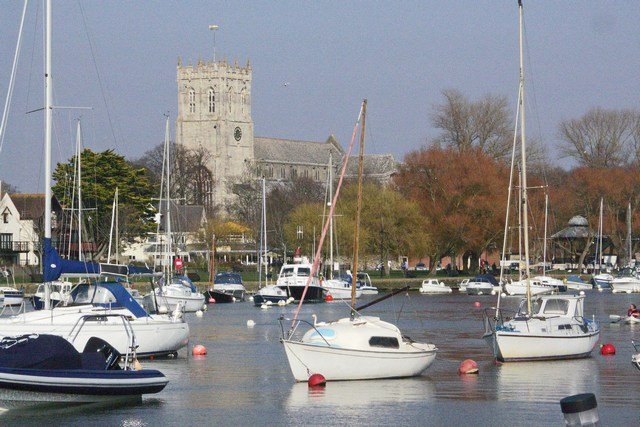 Christchurch - the River Stour and Priory