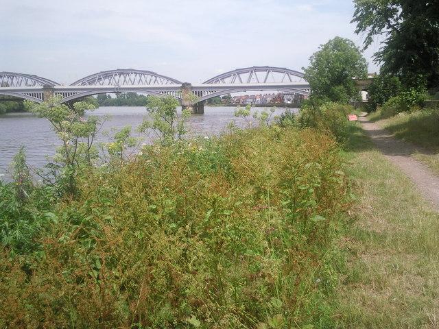 Barnes Railway Bridge and Barnes Riverside