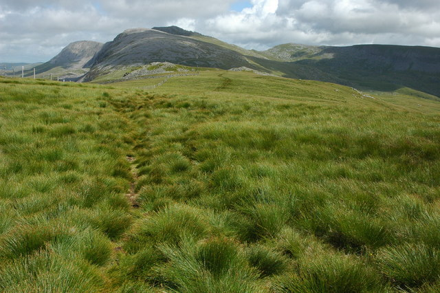 The Cadair Idris range viewed from Carnedd Lŵyd