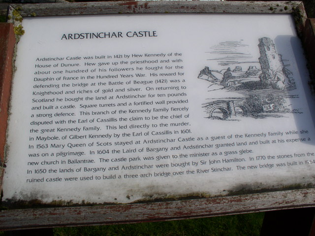Ardstinchar Castle Sign