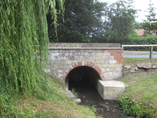 Weir Green Bridge and a bench mark