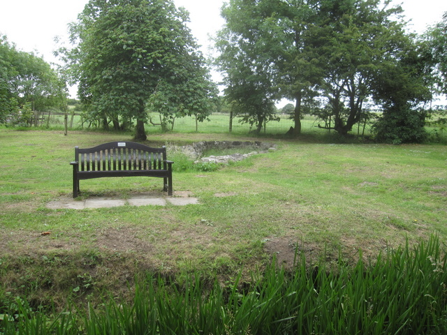 Weir Green bench and pond