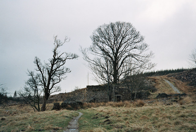 Dob Dale Farm Ruins - Gisburn Forest in Bowland