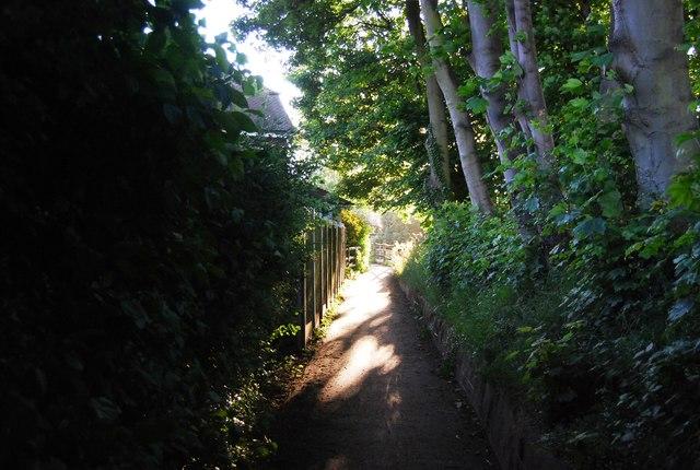Footpath entering Powder Mills