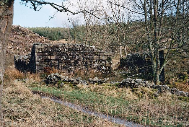 Old Farm Ruins of Dob Dale (Dob Dol) Gisburn Forest - Bowland