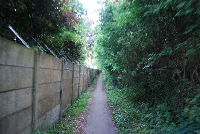 Footpath by GSK works, Powder Mills