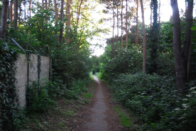 Footpath past the GSK works, Powder Mills