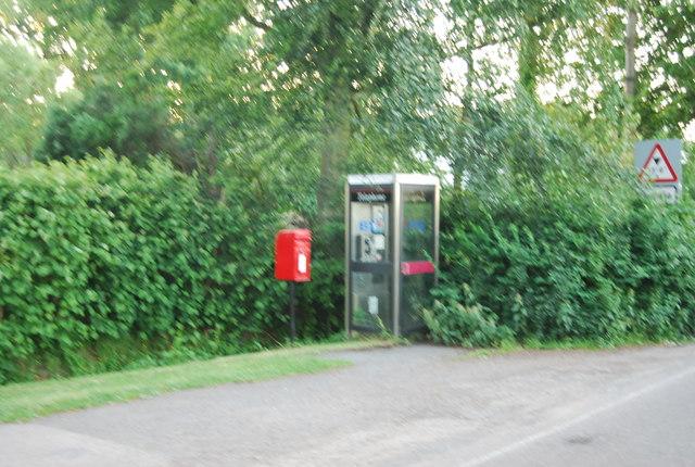 Postbox and Telephone Box, Powder Mill Lane