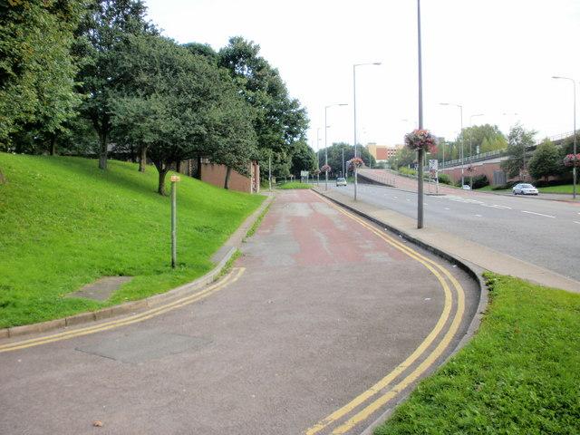 Side road to Shaftesbury Methodist Church, Newport