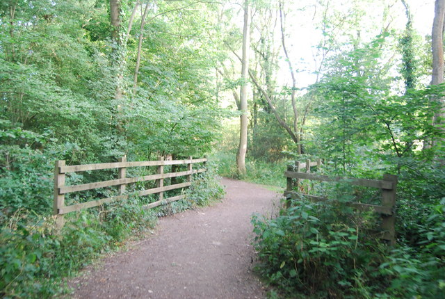 Footbridge, Byway open to all traffic, south of Weald
