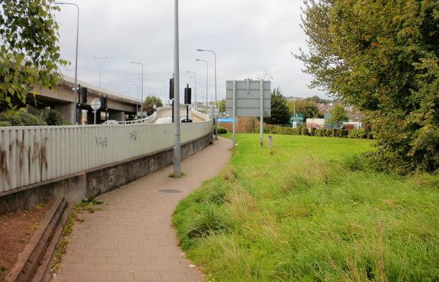 Footpath alongside Heidenheim Drive, Newport