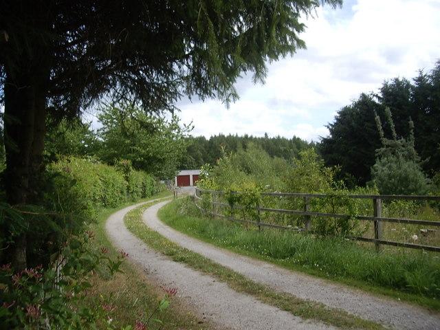Railway embankment at Glassel