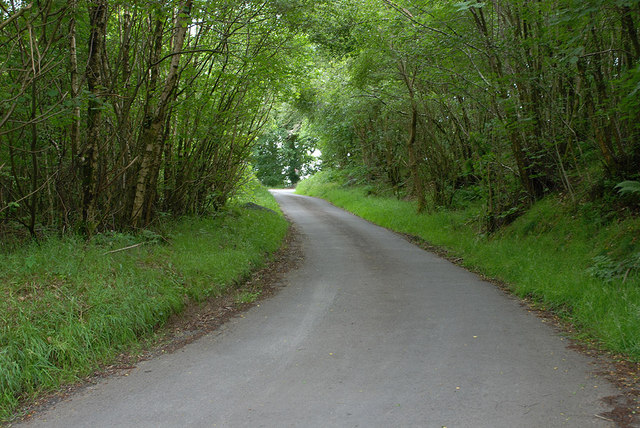 Steep hill on the back road