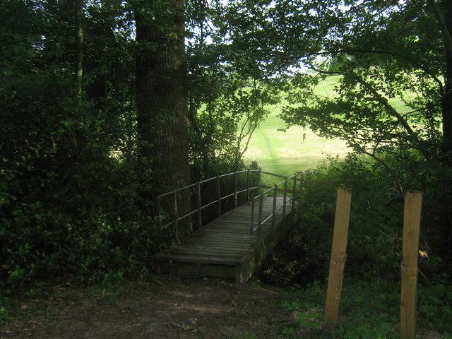 Footbridge in Lord's Land Wood