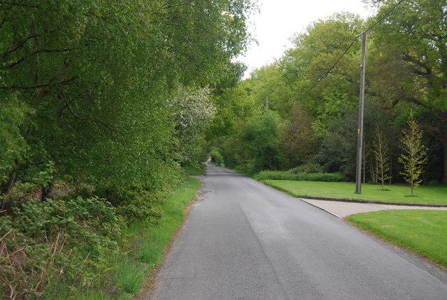 Road across Lane End Common