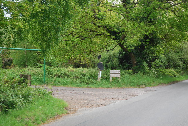 Entrance to Chailey Common Nature Reserve Car Park