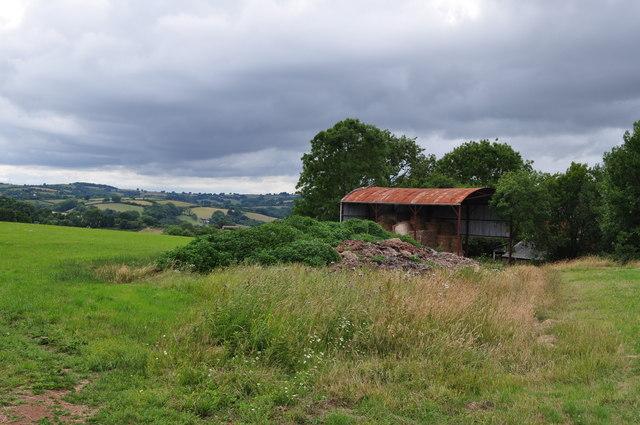 Mid Devon : Grassy Field & Barn