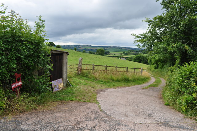 Mid Devon : Entrance to Shortridge Hill